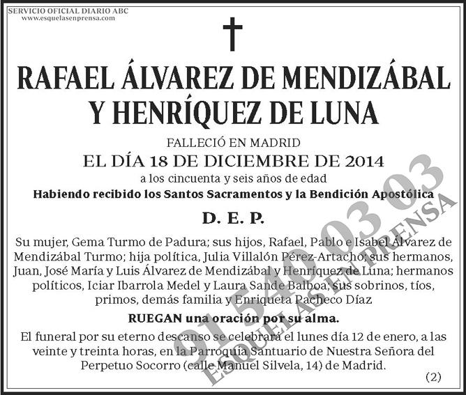 Rafael Álvarez de Mendizábal y Henríquez de Luna